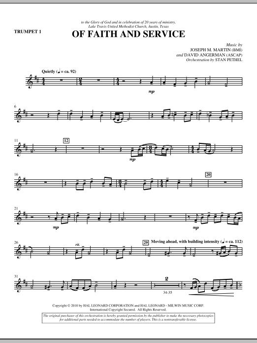 Of Faith And Service - Trumpet 1 (Choir Instrumental Pak)