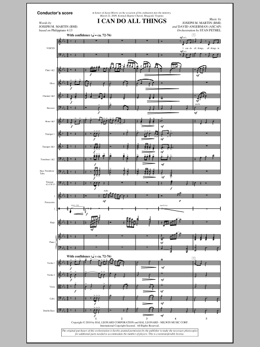 I Can Do All Things (COMPLETE) sheet music for orchestra/band (Orchestra) by Joseph M. Martin and David Angerman. Score Image Preview.