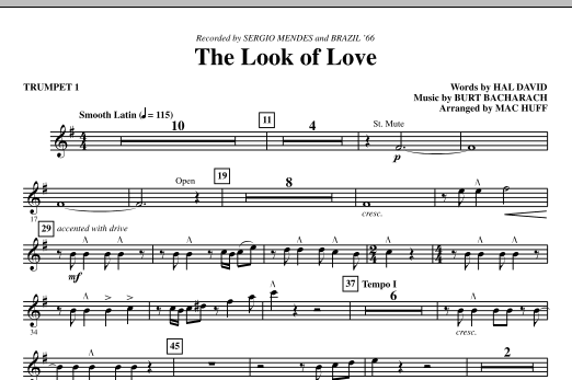 The Look Of Love (complete set of parts) sheet music for orchestra/band (chamber ensemble) by Mac Huff, Burt Bacharach and Hal David. Score Image Preview.