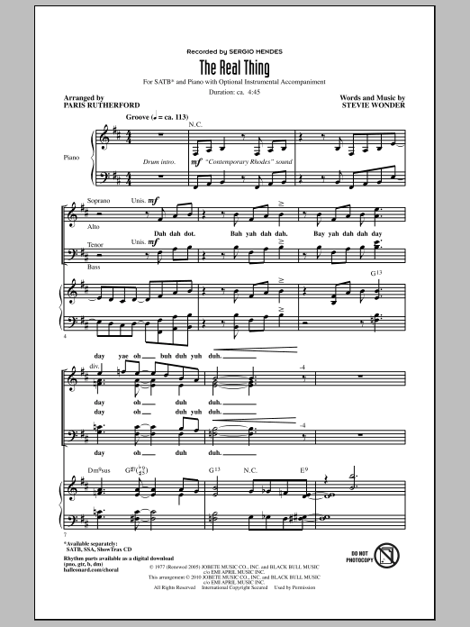 The Real Thing Sheet Music