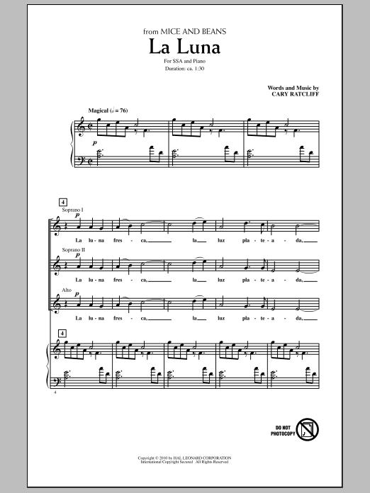 La Luna Sheet Music