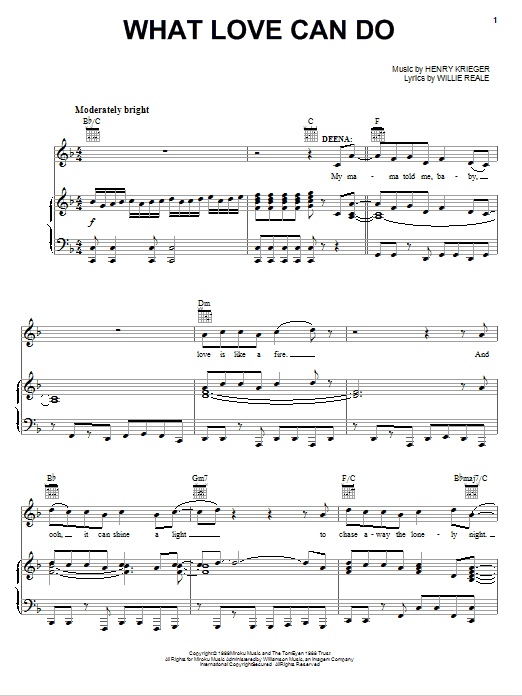 What Love Can Do Sheet Music