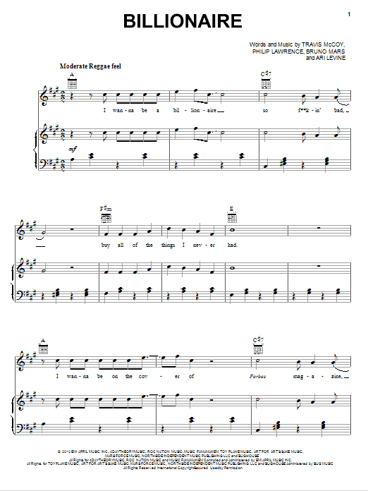 Hitmaker! (Medley) (feat. Bruno Mars) Sheet Music