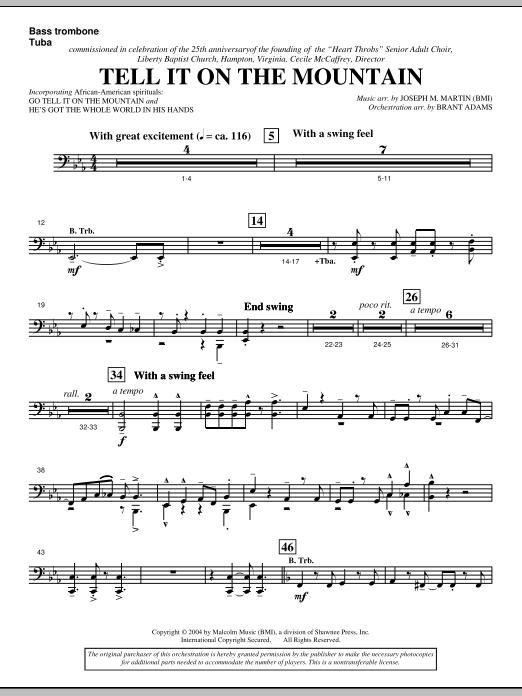Tell It On The Mountain (from A World Of Christmas) - Bass Trombone/Tuba (Choir Instrumental Pak)