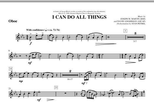 I Can Do All Things - Oboe (Choir Instrumental Pak)