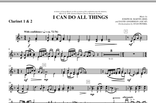 I Can Do All Things - Bb Clarinet 1,2 (Choir Instrumental Pak)