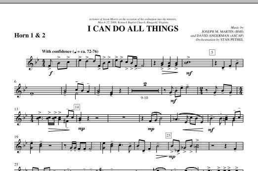 I Can Do All Things - F Horn 1,2 (Choir Instrumental Pak)