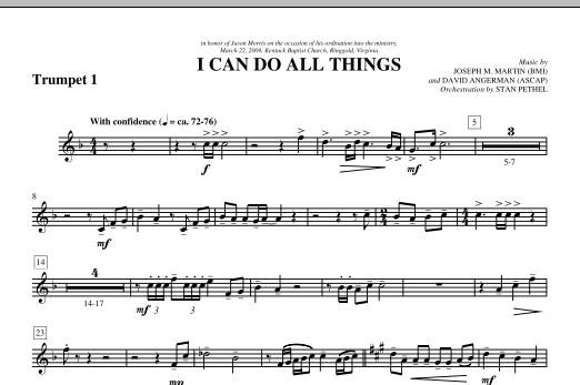 I Can Do All Things - Bb Trumpet 1 (Choir Instrumental Pak)