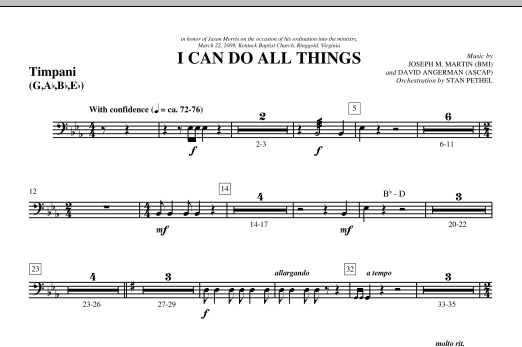 I Can Do All Things - Timpani (Choir Instrumental Pak)