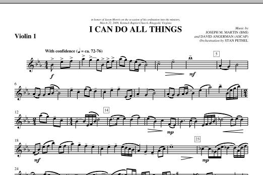 I Can Do All Things - Violin 1 (Choir Instrumental Pak)