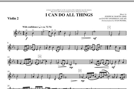 I Can Do All Things - Violin 2 (Choir Instrumental Pak)