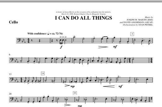 I Can Do All Things - Cello (Choir Instrumental Pak)