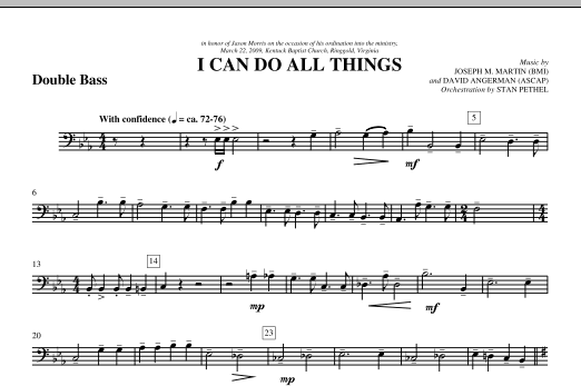 I Can Do All Things - Double Bass (Choir Instrumental Pak)