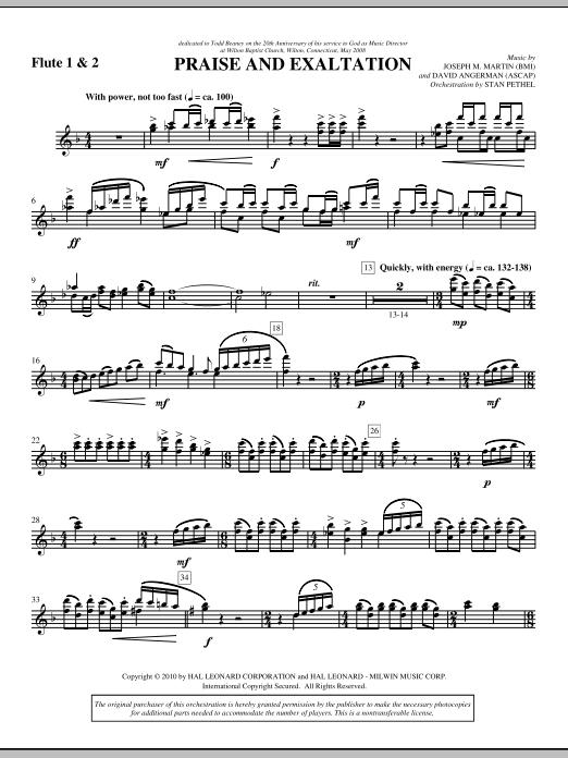 Praise And Exaltation - Flute 1 & 2 (Choir Instrumental Pak)