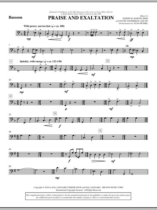Praise And Exaltation - Bassoon (Choir Instrumental Pak)
