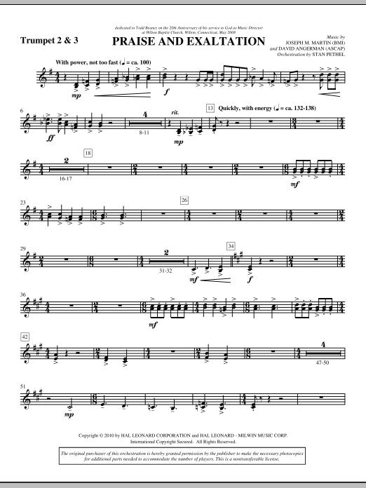 Praise And Exaltation - Bb Trumpet 2,3 (Choir Instrumental Pak)