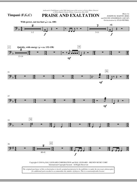 Praise And Exaltation - Timpani (Choir Instrumental Pak)