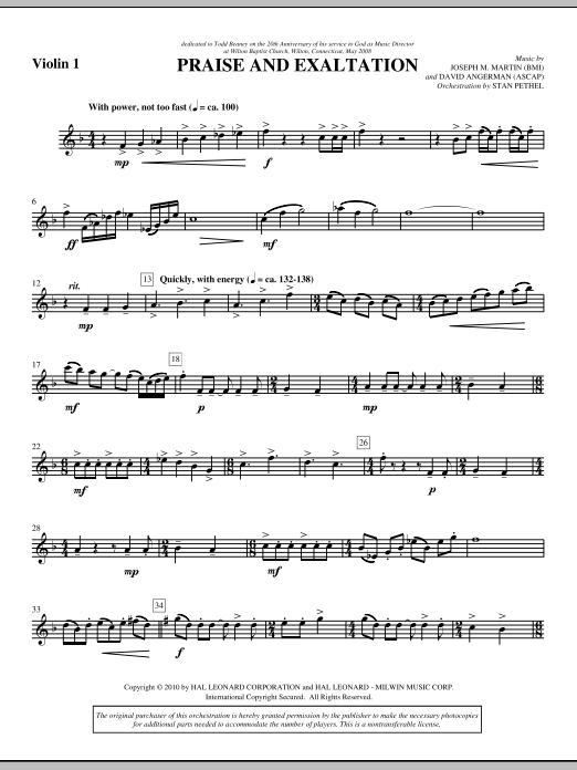 Praise And Exaltation - Violin 1 (Choir Instrumental Pak)