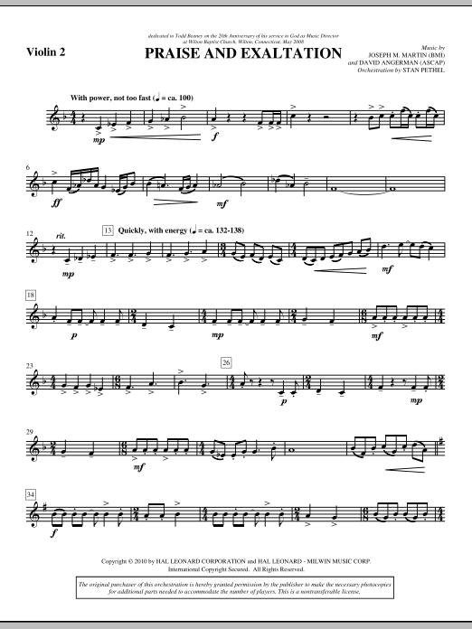 Praise And Exaltation - Violin 2 (Choir Instrumental Pak)
