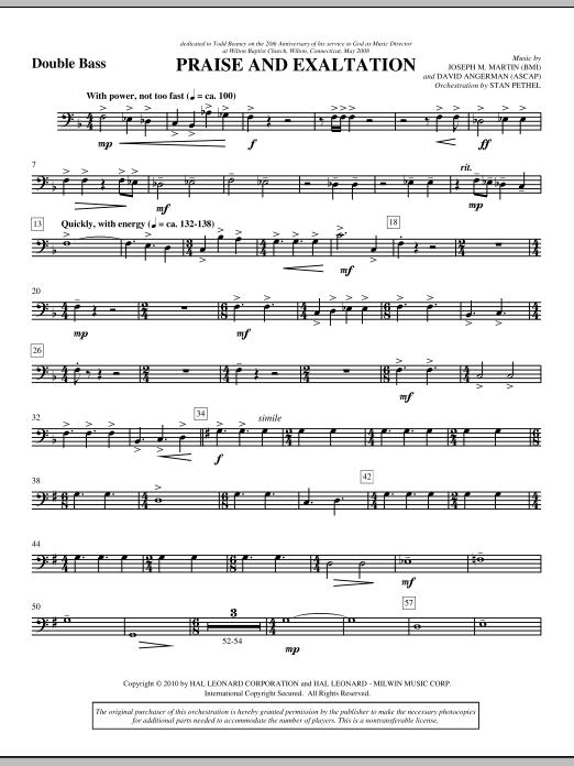 Praise And Exaltation - Double Bass (Choir Instrumental Pak)