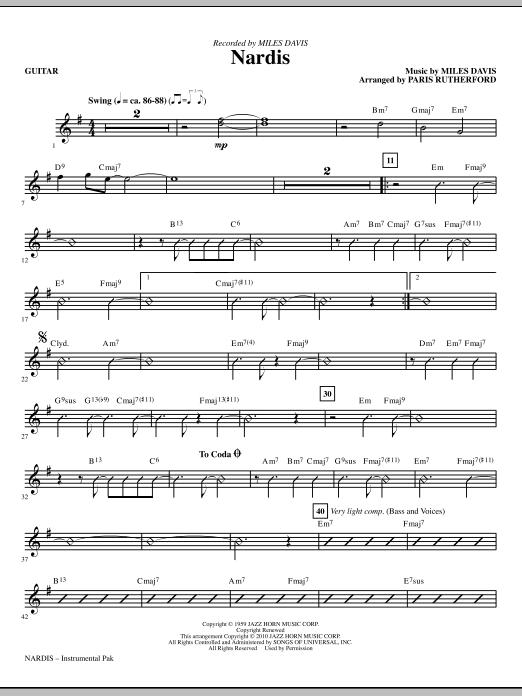 Nardis - Guitar (Choir Instrumental Pak)