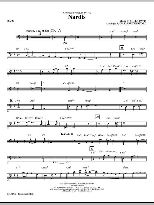 Nardis - Bass (Choir Instrumental Pak)