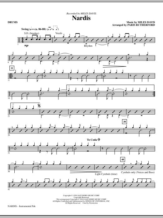 Nardis - Drums (Choir Instrumental Pak)