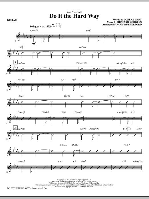 Do It The Hard Way (from Pal Joey) - Guitar (Choir Instrumental Pak)