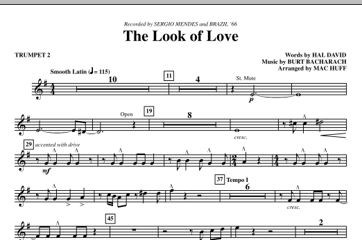 The Look Of Love - Bb Trumpet 2 (Choir Instrumental Pak)