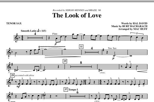 The Look Of Love - Tenor Sax (Choir Instrumental Pak)