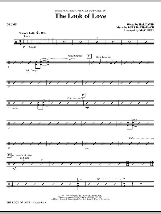 The Look Of Love - Drums (Choir Instrumental Pak)