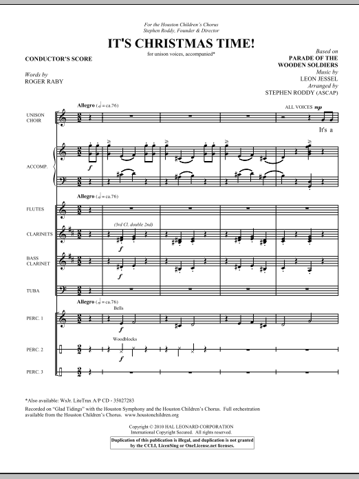 It's Christmas Time! (COMPLETE) sheet music for orchestra/band (Special) by Leon Jessel. Score Image Preview.