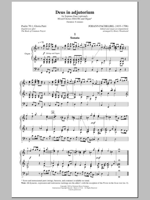 Deus In Adjutorium Sheet Music
