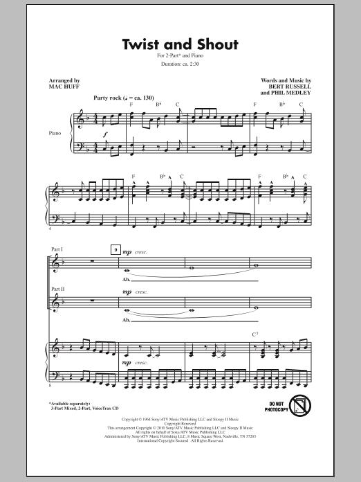 Twist And Shout (2-Part Choir)
