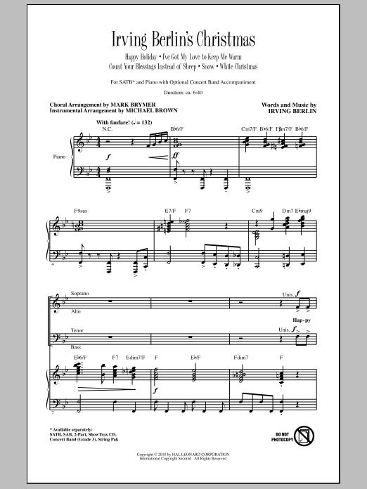Irving Berlin's Christmas (Medley) Sheet Music