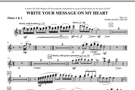 Write Your Message On My Heart - Flute 1 & 2 (Choir Instrumental Pak)