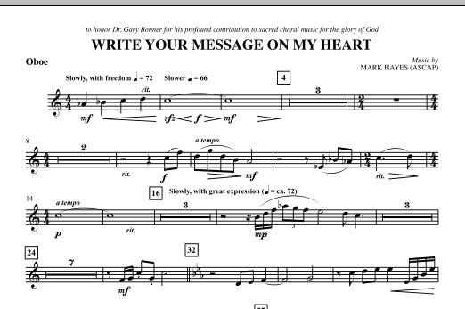 Write Your Message On My Heart - Oboe (Choir Instrumental Pak)