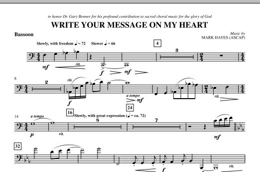 Write Your Message On My Heart - Bassoon (Choir Instrumental Pak)