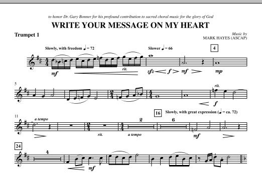 Write Your Message On My Heart - Bb Trumpet 1 (Choir Instrumental Pak)