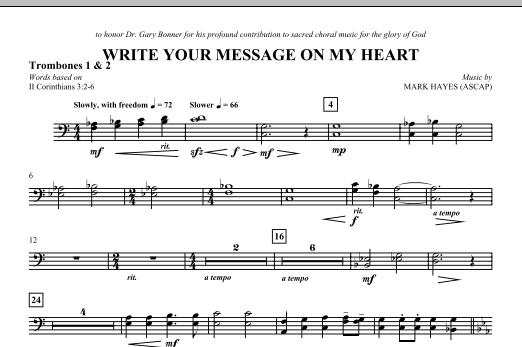 Write Your Message On My Heart - Trombone 1 & 2 (Choir Instrumental Pak)