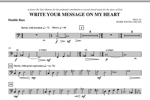 Write Your Message On My Heart - Double Bass (Choir Instrumental Pak)