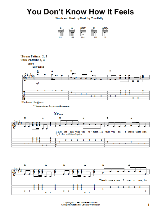 Sheet Music Digital Files To Print - Licensed Easy Guitar with TAB