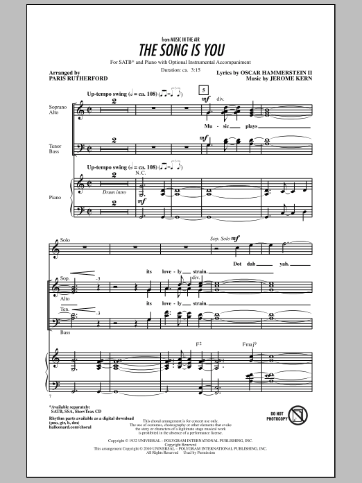 The Song Is You Sheet Music