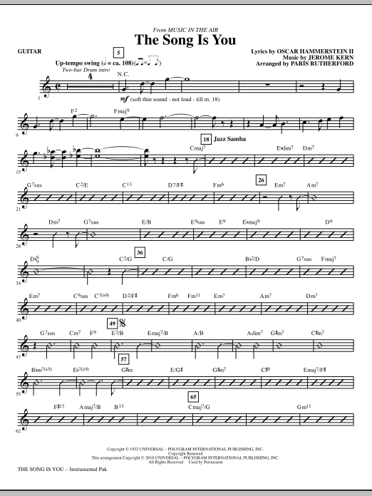 The Song Is You - Guitar Sheet Music