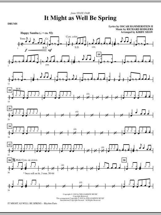 It Might As Well Be Spring - Drums (Choir Instrumental Pak)