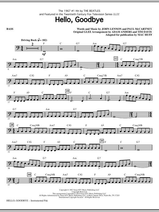Hello, Goodbye - Bass (Choir Instrumental Pak)