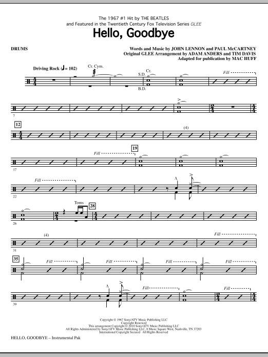 Hello, Goodbye - Drums (Choir Instrumental Pak)