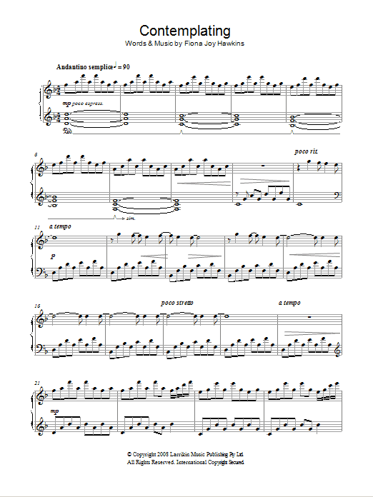 Contemplating Sheet Music