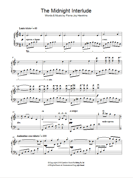 The Midnight Interlude Sheet Music