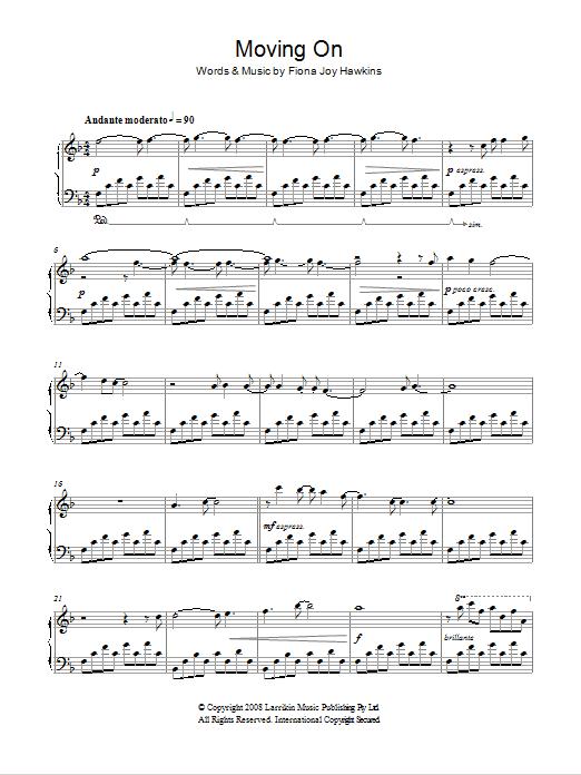 Moving On Sheet Music
